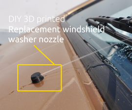 DIY 3D Printed Windshield Washer Nozzle - (And How the Design Process Works)
