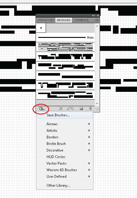 Picture of Repeat and Save Brushes