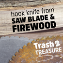 Firewood and Saw Blade Knife
