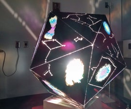 Laser Cut Constellation Projection Lamp