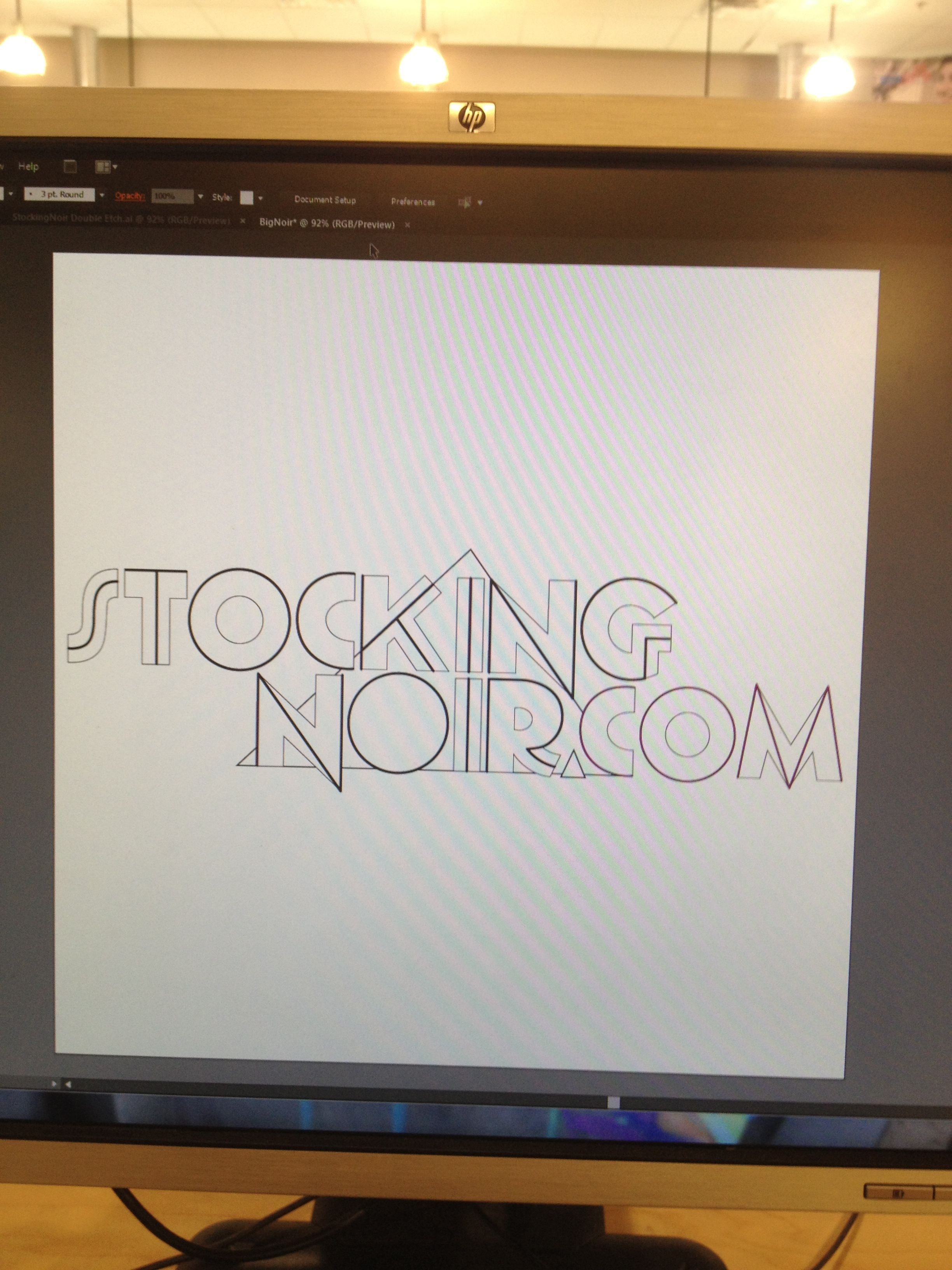 Picture of Get Your Design, and It's Cutting Etching Time.