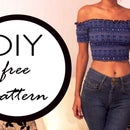 Off the Shoulder Top | Free Pattern | Patrón Gratis