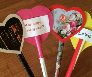 Easy Valentines Made From Magazine Pages, Cardstock and Paper