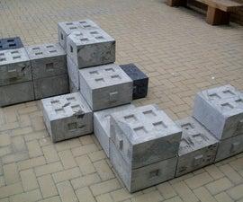 Modular Concrete Bench