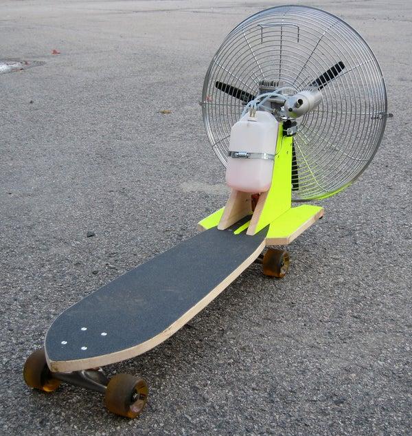 Propeller Powered Skateboard