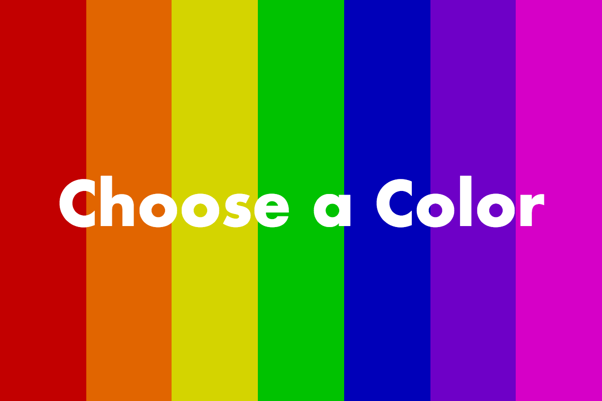 Picture of Choosing Your Color