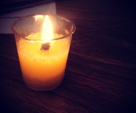 How to Make a Homemade Butter Candle