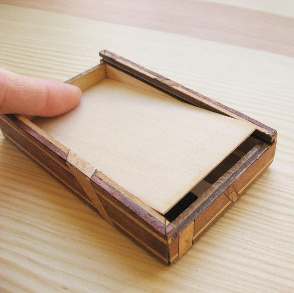 Picture of Business Card Case With Covert Micro SD Compartment