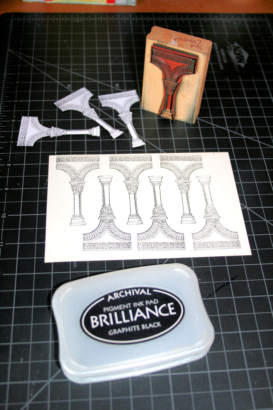 Picture of Stamping and Cutting Out the Arch Element