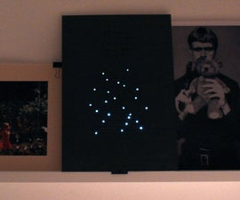 Your own galaxy on a paper... Poster with CONDUCTIVE INK + LEDs
