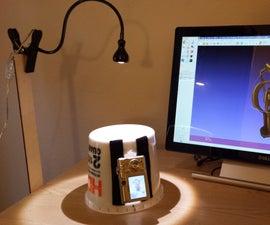 Plastic Pail 3D Scanner for 123D Catch