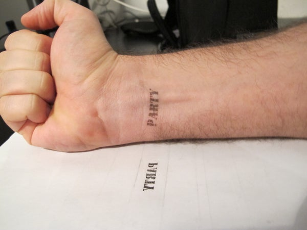 Print Anything on Your Skin: Tattoo/party Stamp