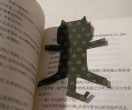 Lively Paper Cat Bookmark you can make!