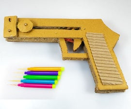 How to Make a PISTOL Out of CARDBOARD Easy DIY TOY Gun at HOME