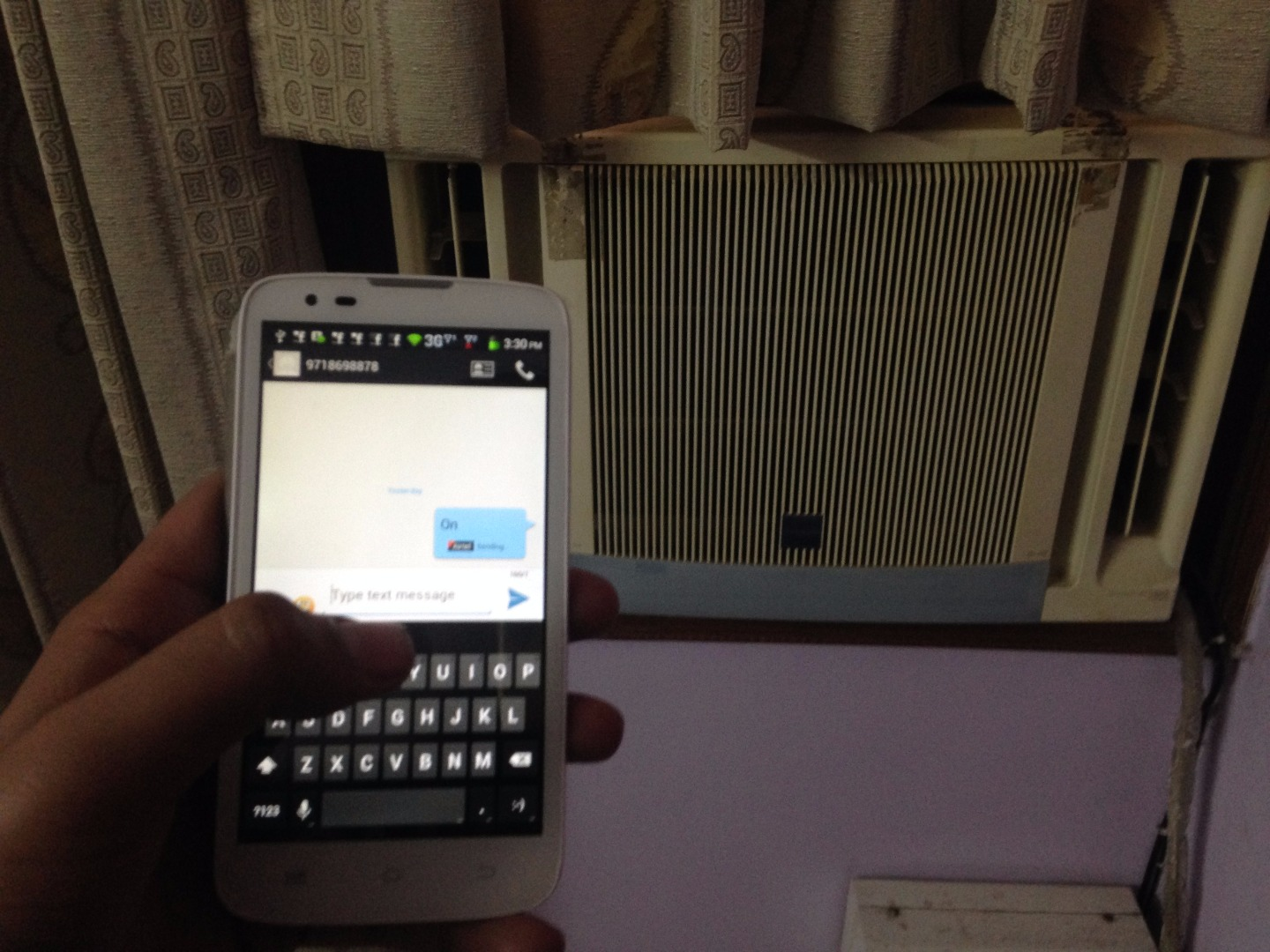 Picture of Smart SMS Powered Air Conditioner Using LinkitONE