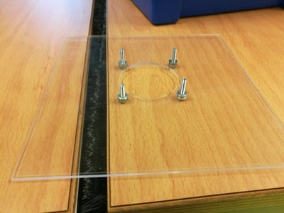 Drill Mounting Holes for Speaker and Wire Pass-through Holes