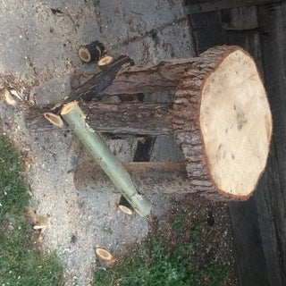 Make a Log Side Table
