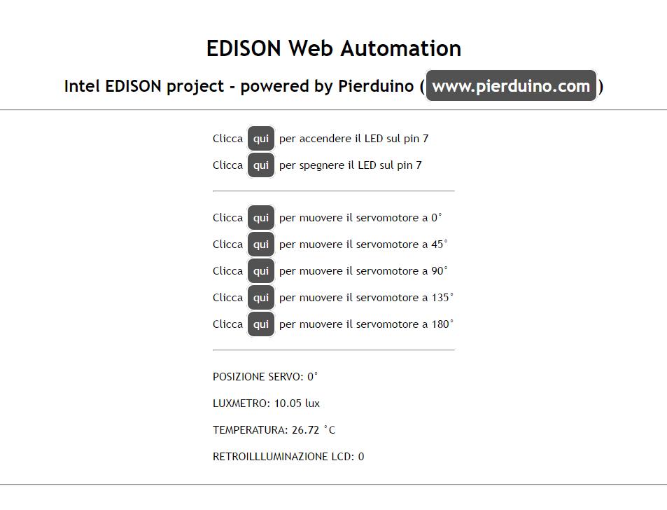 Picture of Edison Web Server