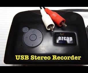 USB Stereo Recorder With Line Input