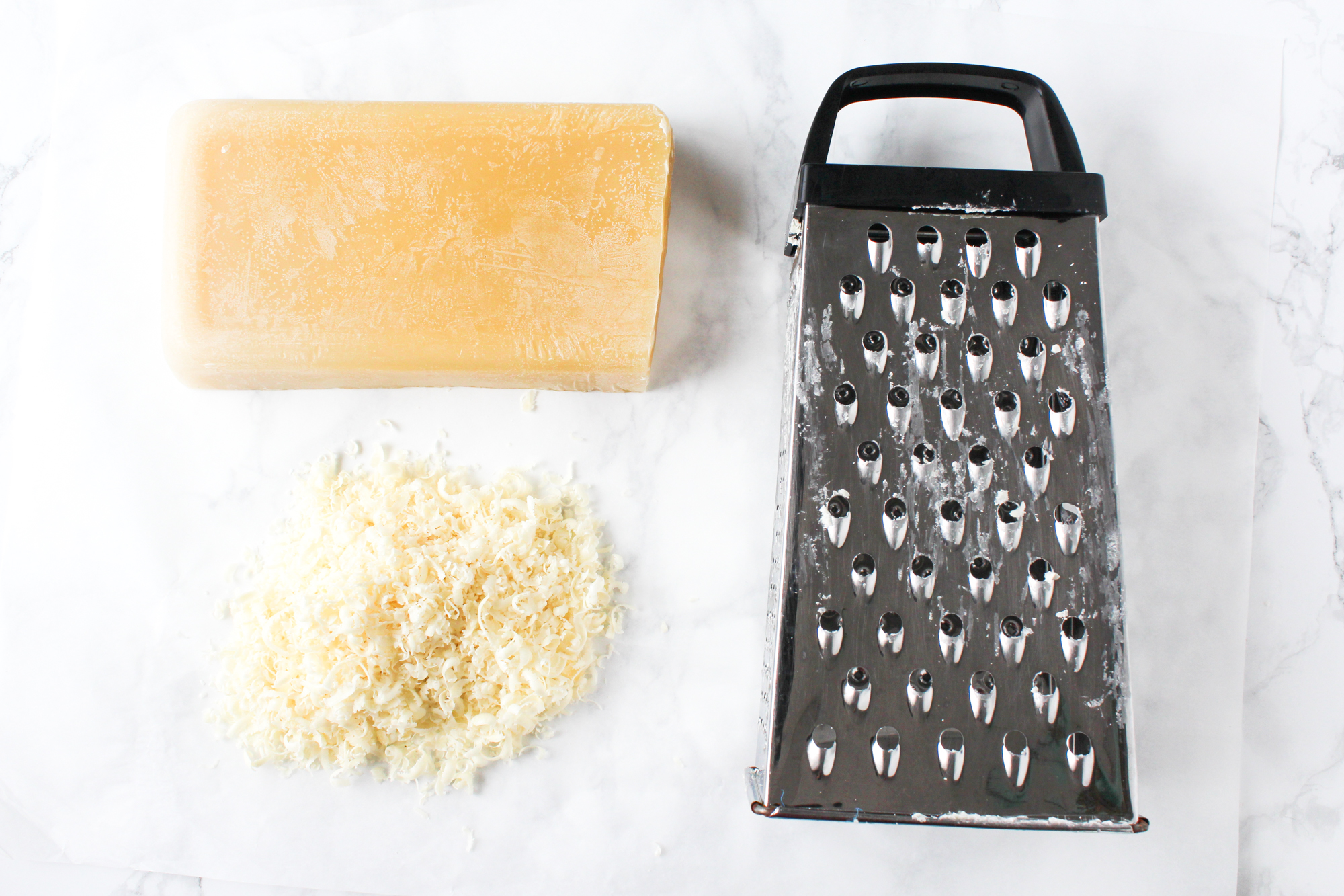 Picture of Grate and Measure the Beeswax
