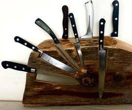 Hybrid Knife Block From Firewood
