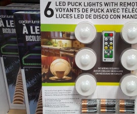 Puck Light Conversion, No More Eating Batteries