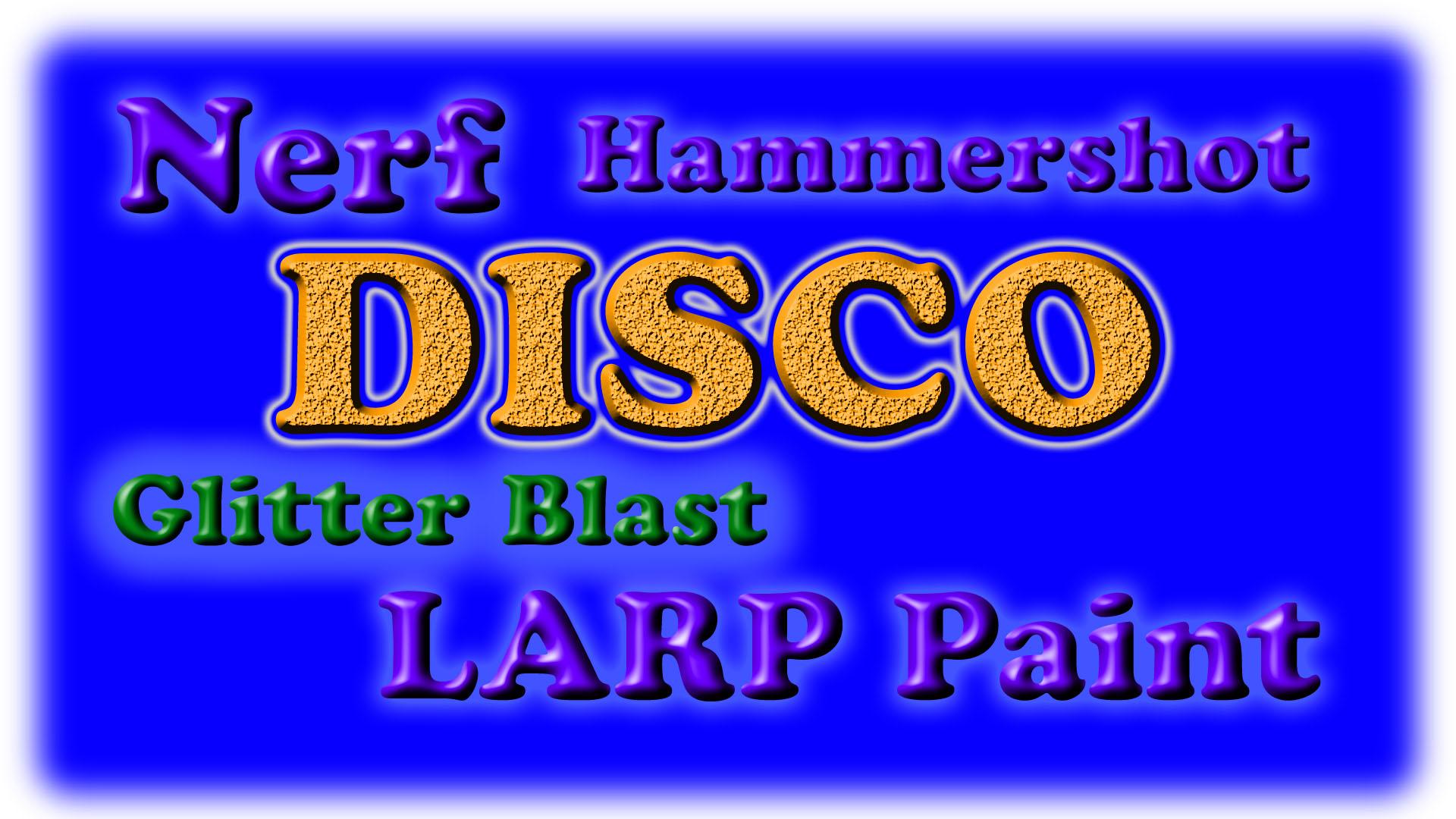 Picture of Nerf Hammershot Blaster Disco Glitter Blast LARP Paint