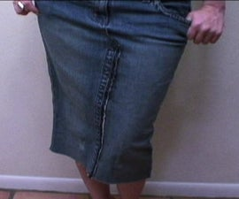 How to make a jean skirt out of jeans.