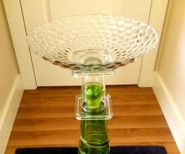 Recycled Glass Birdbath