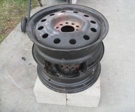 No Weld Car Rims Fire Pit.