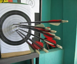 DIY Archery Target - Used A4 Sized Papers