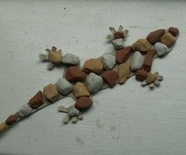 Make a CardBoard/Rock Lizard