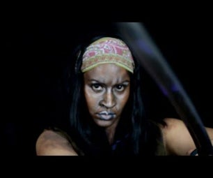 Michonne From the Walking Dead Make Up