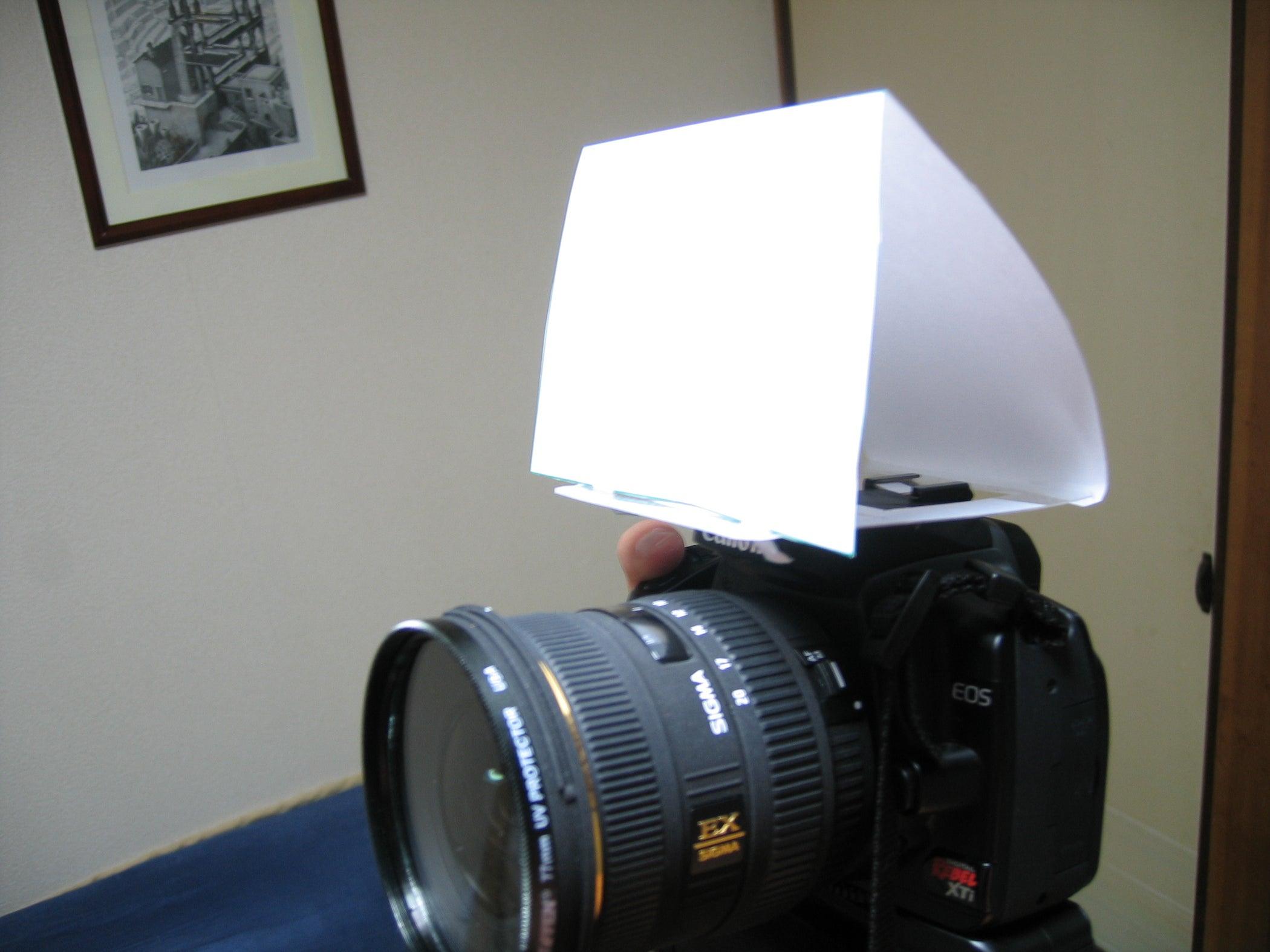 DIY Digital SLR Built In-flash Diffuser : 5 Steps ...