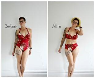 DIY NO SEW High Waist Bikini in 5 Minutes