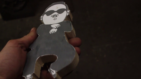 Wood Carving of PSY
