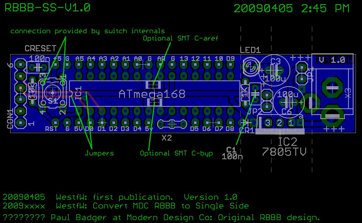 Single Sided Really Bare Bones Board Arduino in EAGLE ... on breadboard schematic, servo schematic, atmega32u4 schematic, ipad schematic, shields schematic, msp430 schematic, wiring schematic, wireless schematic, iphone schematic, apple schematic, pcb schematic, audio schematic, atmega328 schematic, robot schematic,