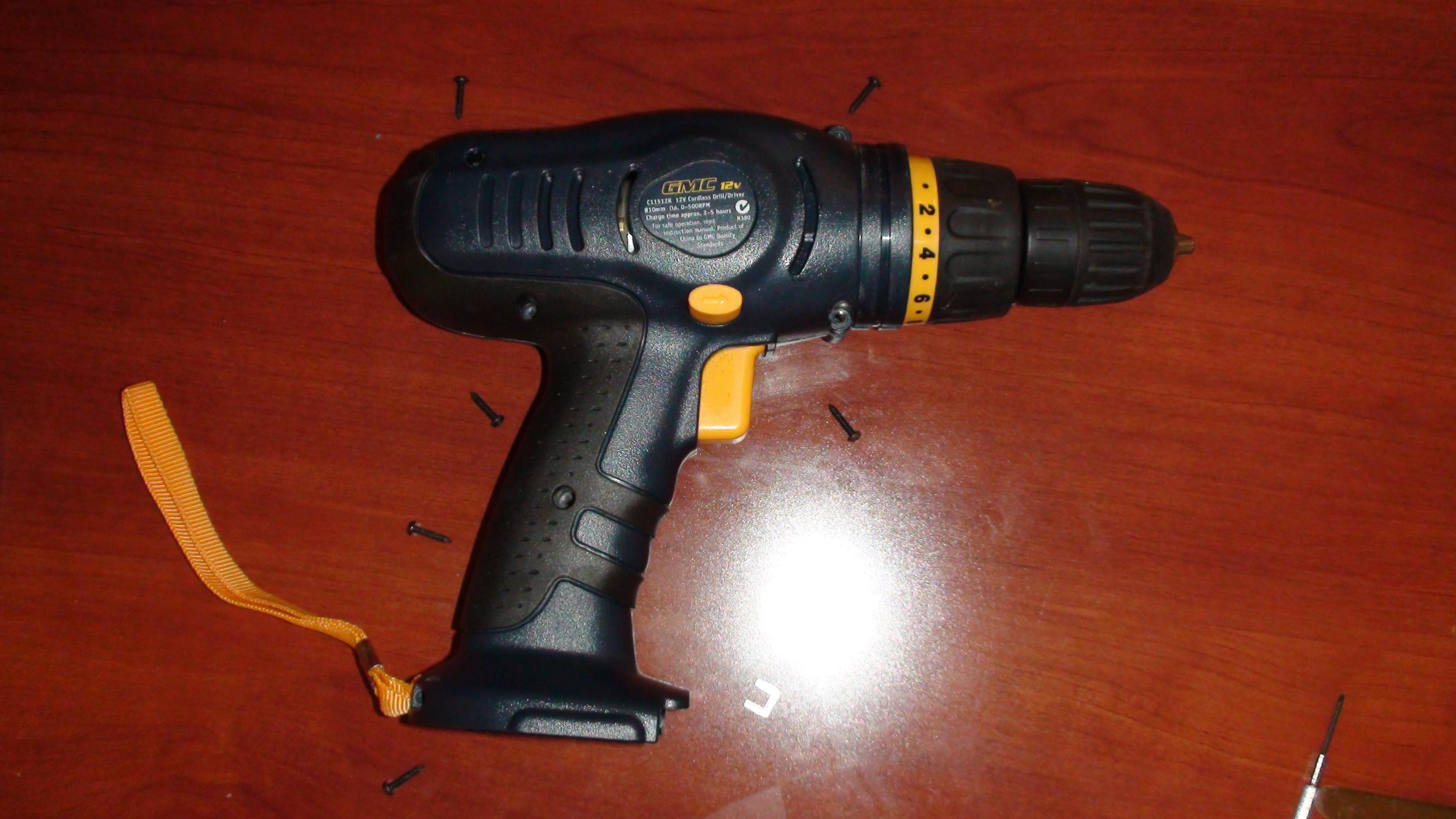 Picture of Disassemble Cordless Drill Casing
