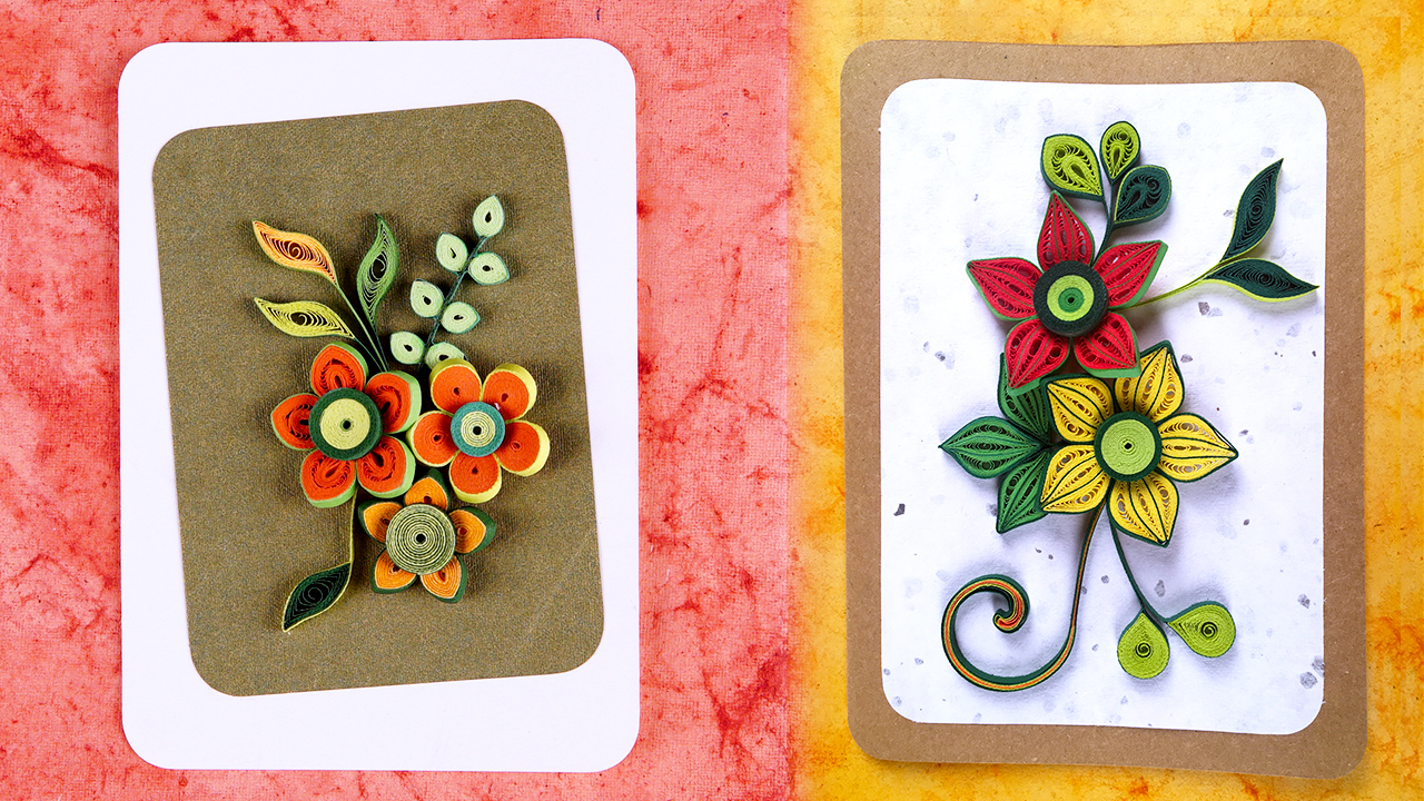 Picture of How to Make Homemade Greeting Cards | Paper Quilling Greeting Cards