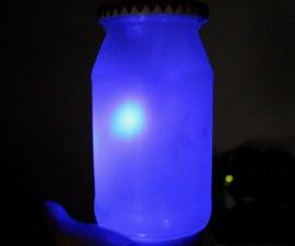 Sound Reactive (VU) Colour Changing Mason Jar Lamp