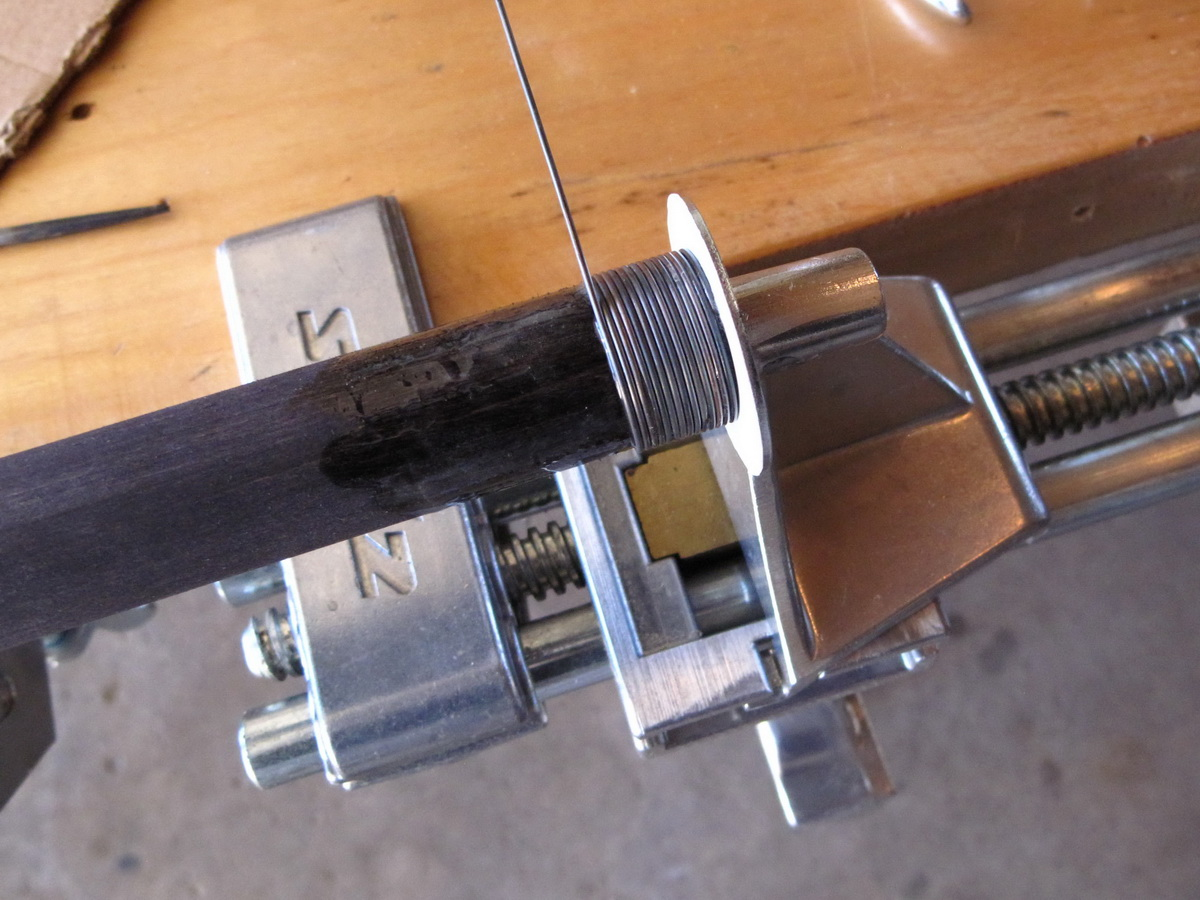 Picture of Wire Wrapping the Handle