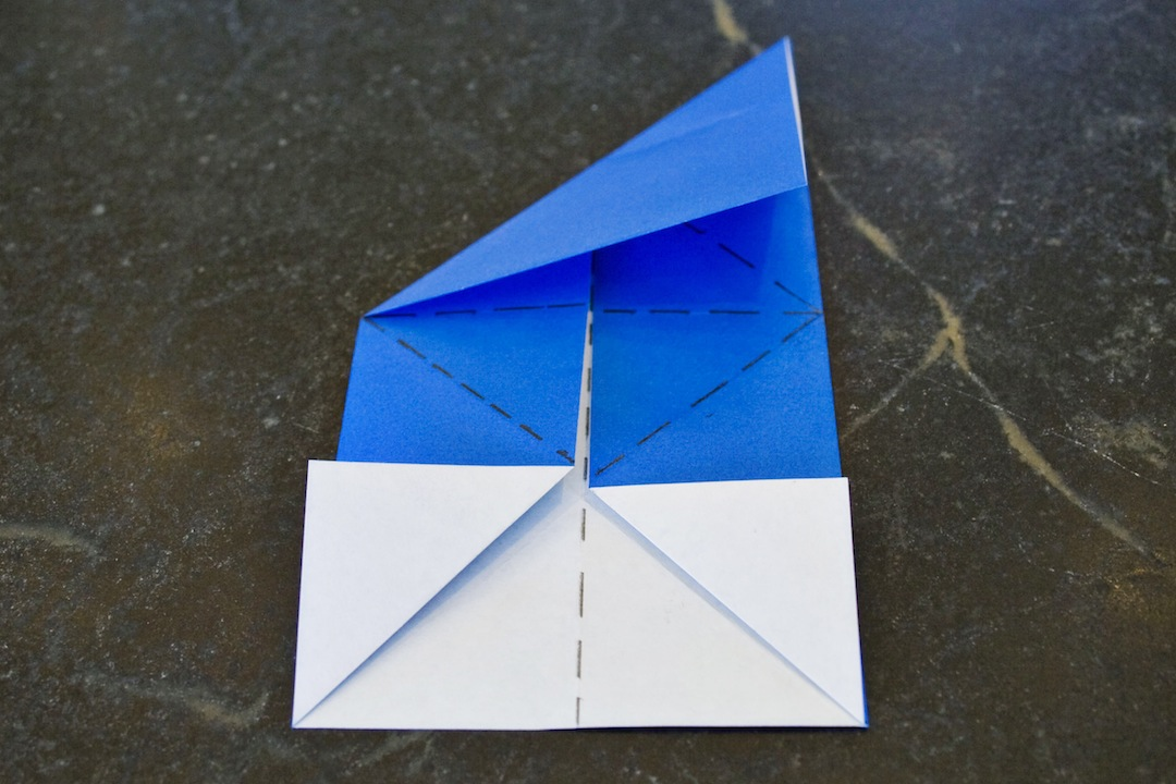Picture of Fold Diagonals on Top and Bottom