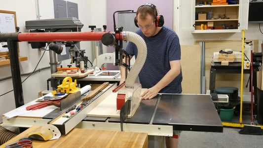 Cutting Plywood for the Front, Back and Bottom Panels