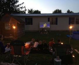 Simple and Cheap Outdoor Movies!!