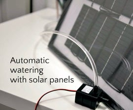 Budget Off-grid Automatic Watering With Solar Panels