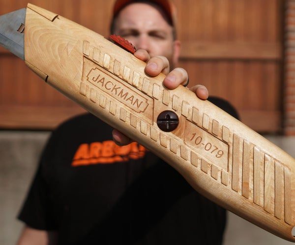 Carving a Giant Utility Knife (entirely Out of Wood)