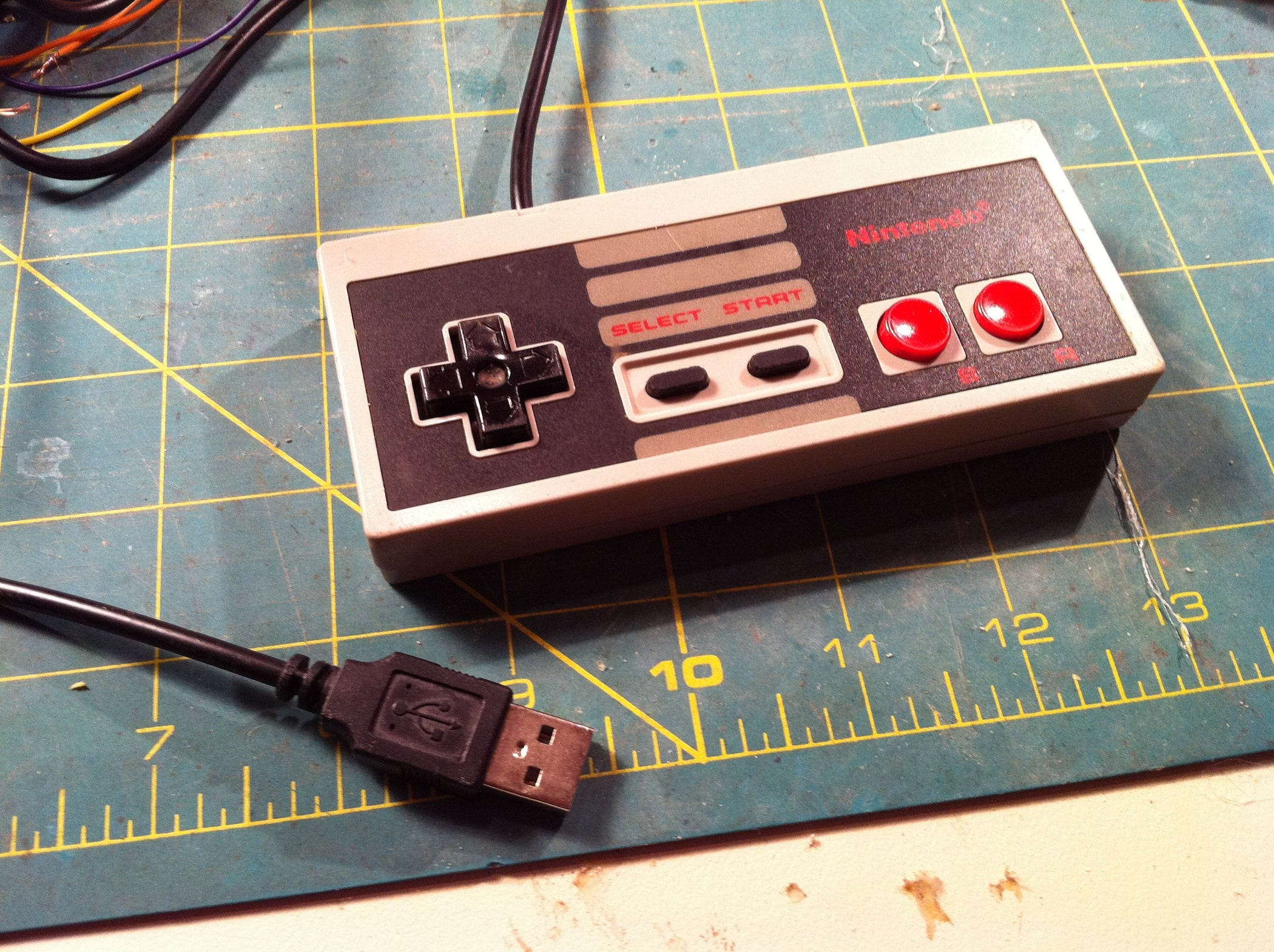 Make A Usb Nes Controller 9 Steps With Pictures Micro Switch Wiring Diagram In Addition Ps2