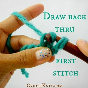 Now Draw Your Hook Back Through the First Stitch Only.