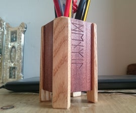 Pencil Holder With Anglo Saxon Runes