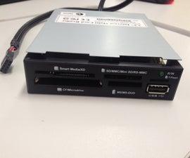 Recycling A PC Internal Card Reader - Make it External & Portable